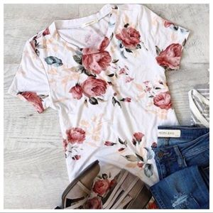 ✨NEW✨ Short Sleeve Floral Tunic Top
